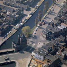 Luchtopname van de Amsterdamse Poort in Haarlem begin jaren '60.