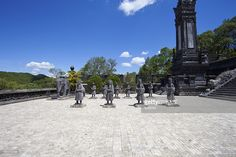 Stock Photo : Soldiers statues at Khai Dinh Emperor's Mausoleum, Hue, Vietnam Emperor, Marina Bay Sands, Royalty Free Images, Soldiers, Statues, Hue, Vietnam, Stock Photos, Building