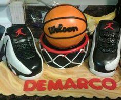 Jordan Shoes and Basketball cake