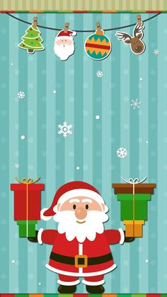 Wallpaper Iphone Christmas Wallpapers 30 Ideas For 2019 Santa Claus Wallpaper, Holiday Wallpaper, Winter Wallpaper, Wallpaper Telephone, Cellphone Wallpaper, Iphone Wallpaper, Noel Christmas, Christmas Paper, Christmas Crafts