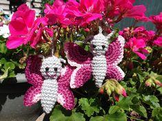HaakYdee: Gehaakte vlinder 'Flo' / crocheted butterfly amigurimi