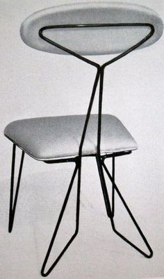 Luisa and Ico Parisi, Early Metal Rod Chair. 1950s(?).