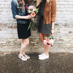 Flowers are a girl's best friend {other than her actual best friend, of course!}