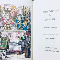 Alice's Adventures in Wonderland by Lewis Carroll / vintage Alice in Wonderland illustration