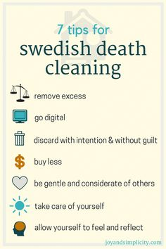 7 tips for Swedish Death Cleaning