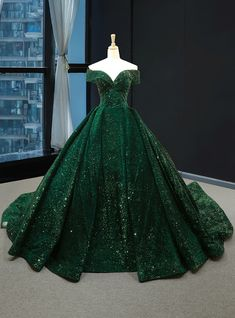Real Picture Dark Green Sequins V Neck Sweep Train Formal Prom Dress, Special Oc. - Real Picture Dark Green Sequins V Neck Sweep Train Formal Prom Dress, Special Occasion Dress 2020 – dresses big big dresses green dress green dresses grey - Green Wedding Dresses, Sparkly Prom Dresses, Dress Prom, Dark Green Prom Dresses, Dress Hire, Green Gown, Glitter Wedding Dresses, Green Ball Dresses, Long Sleeved Wedding Dresses