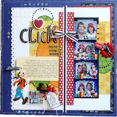 Fun Disney layout and a link to make your own photobooth photo strips!