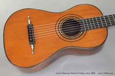 Louis Panormo School Guitar circa 1830 top