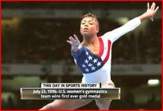 1996 Olympics - U.S. women's gymnastics dream team! Add Around The Rings on www.Twitter.com/AroundTheRings & www.Facebook.com/AroundTheRings for the latest info on the #Olympics.