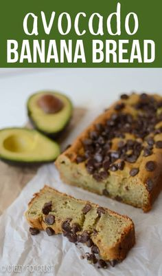Avocado Banana Bread is an easy healthier banana bread recipe! Substitute avocado for butter and you have some of the best banana bread ever! Avocado Banana Bread, Avocado Cake, Best Banana Bread, Healthy Banana Bread, Avocado Cookies, Avocado Dessert, Easy Bread Recipes, Avocado Recipes, Banana Bread Recipes