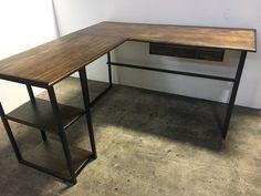 L Shaped Desk / Office Desk / Computer by WolfcreekFurnitureCo