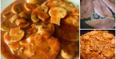 Kuracie rezne na hríbikoch - Receptik.sk Treats, Chicken, Fit, Sweet Like Candy, Goodies, Shape, Sweets, Snacks, Cubs