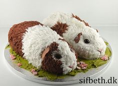 Crazy Cakes, Fancy Cakes, Pretty Cakes, Cute Cakes, Pig Birthday Cakes, Pig Crafts, Cute Guinea Pigs, Animal Cakes, Pig Party