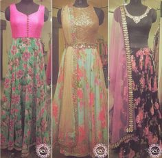 We love the floral on these pieces from Studio East6 in Chicago #IndianFashion…