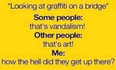 Is it art or is it vandalism?
