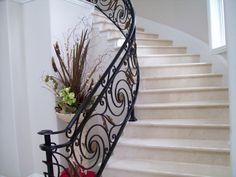 iron stair railings -