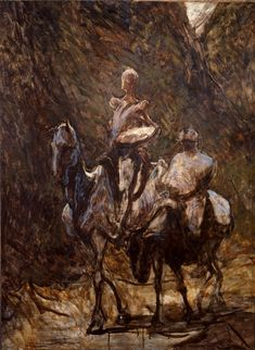 Honoré Daumier - Don Quixote and Sancho Panza, 1869 - 1872