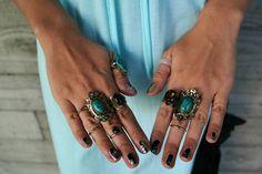#blue #maxidress #dress #lookbook #chictopia #style #fashion #silver #jewelry #boho #bohemian #blogger #hat