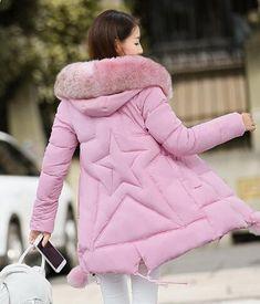 Maternity Zimní kabáty 2016 nové Fasádní kožené obojek s kapucí Down Parka  Materství těhotenské Thicken Warm b33d5b579ef