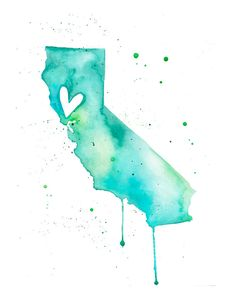 Already purchased for my someday space and in love!     5x7 - California Love. $10.00, via Etsy.