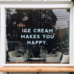 Imagem de ice cream, happy, and quotes Store Fronts, Beautiful Words, Are You Happy, Typography, Inspirational Quotes, Motivational Quotes Tumblr, In This Moment, Make It Yourself, Feelings