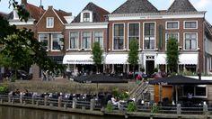 Hotel Café Restaurant de Posthoorn in Dokkum - Altijd aanbiedingen Cafe Restaurant, Day Trips, Netherlands, Terrace, Mansions, House Styles, City, Backpacking, Islands
