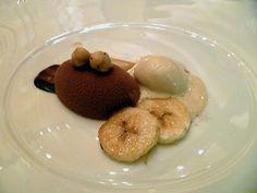 Le Bernardin | Gianduja mousse, hazelnuts, honey, banana, brown butter ice cream