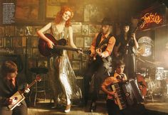 frock & roll: Karen Elson & Jack White for Vogue US June 2010 by Annie Leibovitz