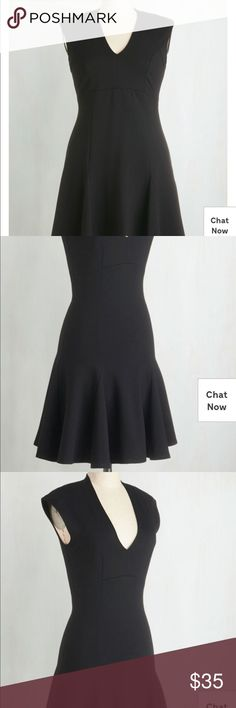 A Dash of Flair A-line dress black ModCloth Brand new dress. New w/o tag dad reswap. Clothing Swap, Asymmetrical Dress, Modcloth, Dress Black, New Dress, Brand New, Street Style, Best Deals, Womens Fashion