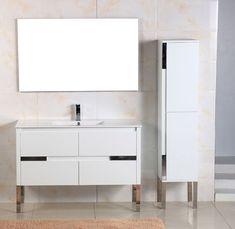 Adornus Caren 48 inch Single Sink White Finish Modern Bathroom Vanity