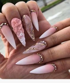 """If you're unfamiliar with nail trends and you hear the words """"coffin nails,"""" what comes to mind? It's not nails with coffins drawn on them. It's long nails with a square tip, and the look has. Stiletto Nail Art, Cute Acrylic Nails, Coffin Nail, Dope Nails, Glam Nails, Fabulous Nails, Gorgeous Nails, Stylish Nails, Trendy Nails"""
