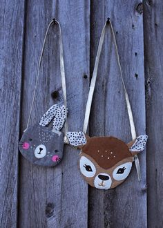 Two cute rabbit and bambi bags made by Sunna of Mekkotehdas