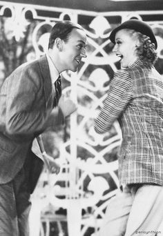 Fred Astaire and Ginger Rogers- people remember her dancing, but she had spectacular comic timing as well. Golden Age Of Hollywood, Hollywood Stars, Classic Hollywood, Old Hollywood, Classic Movie Stars, Classic Movies, Fred And Ginger, Musical Film, Partner Dance