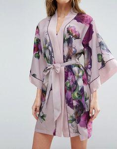 Buy Ted Baker Sunlit Floral Kimono at ASOS. Cute Sleepwear, Sleepwear Women, Lingerie Sleepwear, Kimono Fashion, Fashion Outfits, Fashion Women, Fashion Online, Pijamas Women, Night Dress For Women