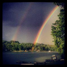 Double rainbow, Summit Lake NY