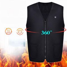Warm Electric Heated Clothing USB Vest Keep Warm Accessories Heater Vest Heated Winter Clothes Men Thermal Sleeveless Vest Winter Outfits Men, Warm Outfits, Outfit Winter, Winter Clothes, Winter Vest, Winter Jackets, Jean Vest Outfits, Heated Clothing, Spring