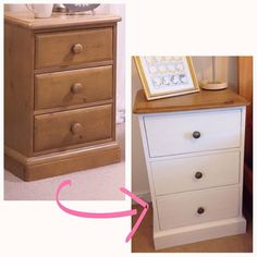 My first up-cycle project! Had two matching bedside tables. Forget to take . - Upcycled Furniture Ideas furniture My first up-cycle project! Had two matching bedside tables. Forget to take … - Upcycled Furniture Ideas Vintage Bedroom Furniture, Diy Home Decor Bedroom, Refurbished Furniture, Bedroom Ideas, Bedroom Vintage, Rustic Furniture, Antique Furniture, Outdoor Furniture, Upcycle Bedside Table