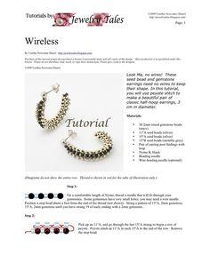 Beaded Earrings Tutorial Wireless Digital Download by JewelryTales