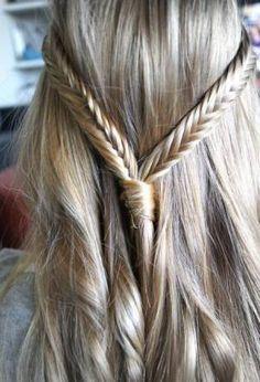 fishtail hairdo