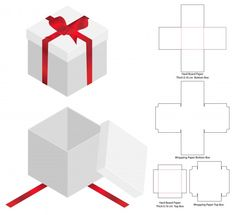 Discover thousands of Premium vectors available in AI and EPS formats Diy Gift Box, Diy Box, Diy Gifts, Birthday Gifts For Boyfriend Diy, Paper Box Template, Crochet Amigurumi, Diy Birthday, Box Packaging, Card Making