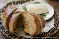 ★ Ernie's Kamote Bread with Kesong Puti and Basil (P120). This enriched bread incorporates bread flour with Cordilleran kamote, milk and honey, served with Carabao cottage cheese.    Another signature bread is the Kamote Bread served with Kesong Puti. We love the soft texture and subtle taste of the kamote. You have to try it!  (@ Cafe by the Ruins)