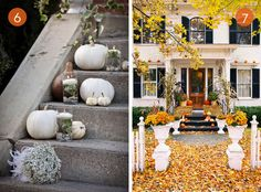 Love the floating candles!  |  Eye Candy: Attractive Outdoor Decor For Fall