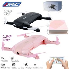 JJRC H37 Elfie foldable Mini Selfie Drone JJRC H37 W/ Camera Altitude Hold FPV Quadcopter WIFI phone Control RC Helicopter Drone
