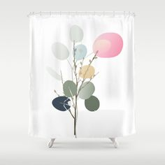 """Stop neglecting bathroom decor - our designer Shower Curtains bring a fresh new feel to an overlooked space. Hookless and extra long, these bathroom curtains feature crisp and colorful prints on the front, with a white reverse side. - One size: 71"""" (W) x 74"""" (H) - Made in the USA with 100% polyester - 12 buttonhole-top for easy hanging - Machine washable, tumble dry - Rod, curtain liner and hooks not included Bathroom Curtains, Shower Curtains, Fashion Room, Silver Dollar, Vintage Designs, Hooks, Crisp, Tapestry, Colorful"""
