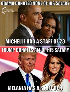 Melania Trump Blindsides Michelle Obama – Shows Her How A First Lady Saves Taxpayers Millions - Royal Family Donald Trump, Liberal Hypocrisy, Politicians, Stupid Liberals, Trump Is My President, Vote Trump, Vice President, Thing 1, Political Views