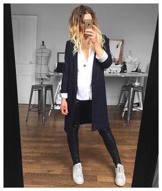 Navy/blanc/noir Blazer Joplin #eponymcreation #comingsoon et cuir Erin sur…