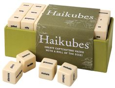 Haikubes, a new diversion for lovers of magnetic poetry.