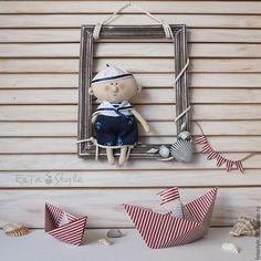 Купить Рамка с Юнгой Декор для детской комнаты Морской стиль - рамка для детской, рамка для декора