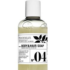GREEN BEAUTY FROM SWEDEN MOONSUN organics~hair & body wash~Treat yourself to a revitalising experience with Moonsun natural body care products.  Your skin will be soft and smooth with a divine scent of lemongrass and linden flowers.