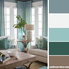 Shades of blue living room It is crucial to choose a living room color scheme that can reflect your personality and style. The right choice of color will truly bring your living room into another level. Living Room Colour Design, Good Living Room Colors, Best Bedroom Colors, Small Room Design, Living Room Color Schemes, Living Room Designs, Colour Schemes, Modern Color Schemes, Small Living Rooms